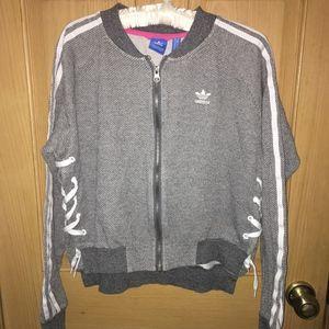 Unique Adidas Trefoil side lace up jacket S
